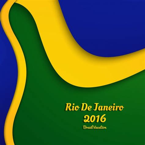 brazil colors brazil colors background with abstract shapes vector