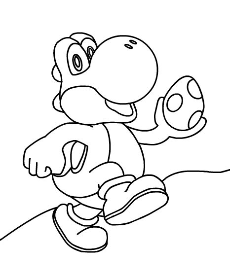 super mario coloring pages yoshi super mario printables