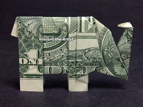 Elephant Money Origami - dollar origami elephant comot