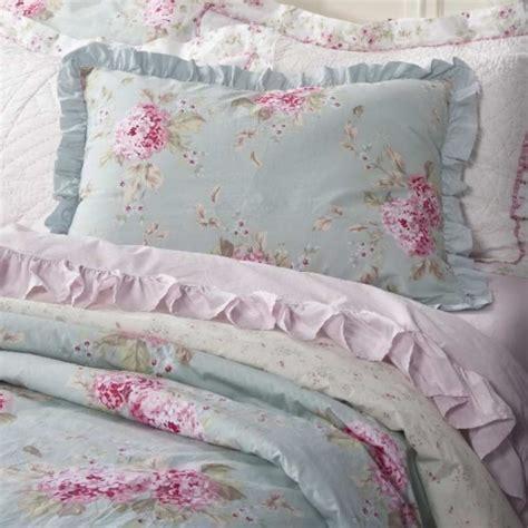 simply shabby chic hydrangea rose belle king duvet  pc set