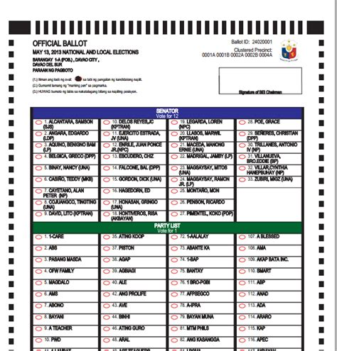 sle election ballot template just b cause