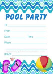 Swimming Pool Invitations Templates by Printable Pool Invitation