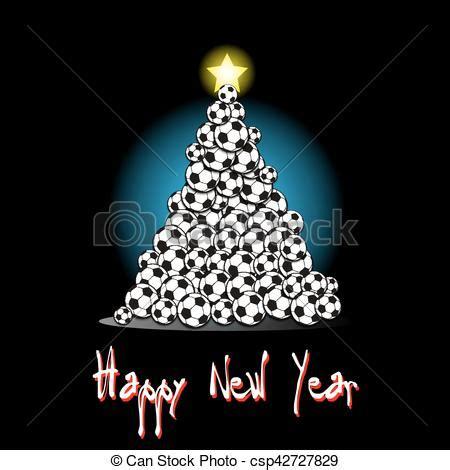 imagenes navidad futbol ilustraci 243 n vectorial de futbol 225 rbol navidad pelotas