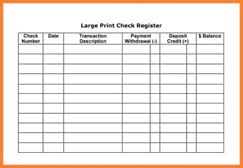 large check template basic check register template large affordable