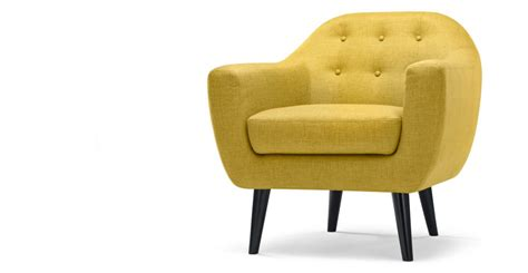 made com armchairs ritchie armchair in ochre yellow made com