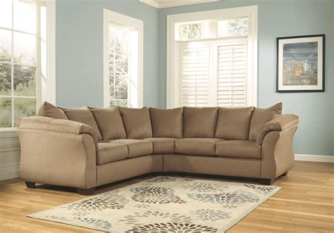 darcy sectional darcy mocha 2pc sectional lexington overstock warehouse
