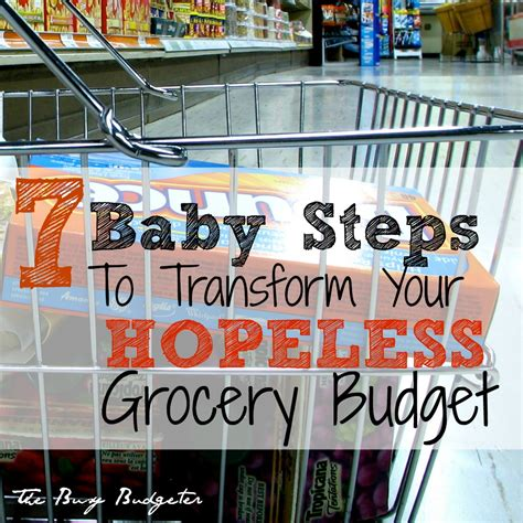 baby steps  transform  hopeless grocery budget