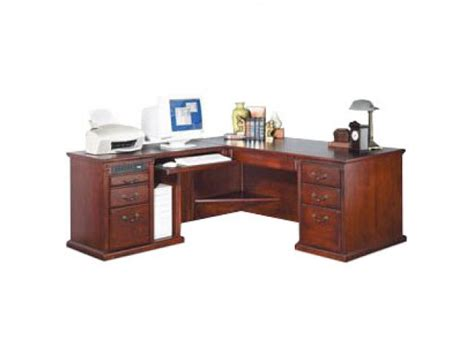 L Shaped Office Desk W Left Return In Cherry Mac 684lc L Shaped Desk With Left Return