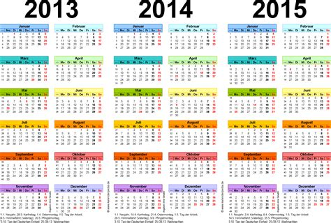 Word Vorlage Kalender 2015 Dreijahreskalender 2013 2014 2015 Als Word Vorlagen Zum