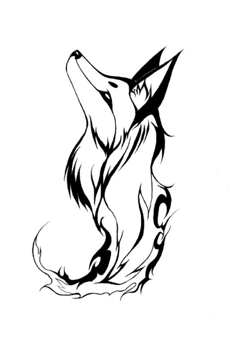 fox tribal tattoo tribal designs clipart best