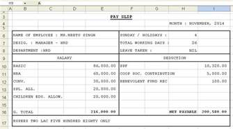top 5 formats of salary slip templates word templates