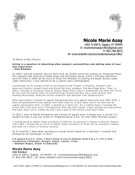 Cover Letter Theatre by Theater Cover Letter