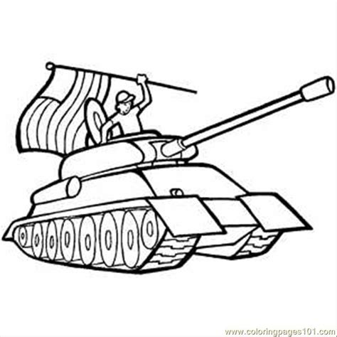 free coloring pages of american wwii tank