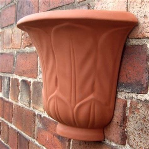 terracotta garden wall acanthus leaf wall planters terracotta uk the home