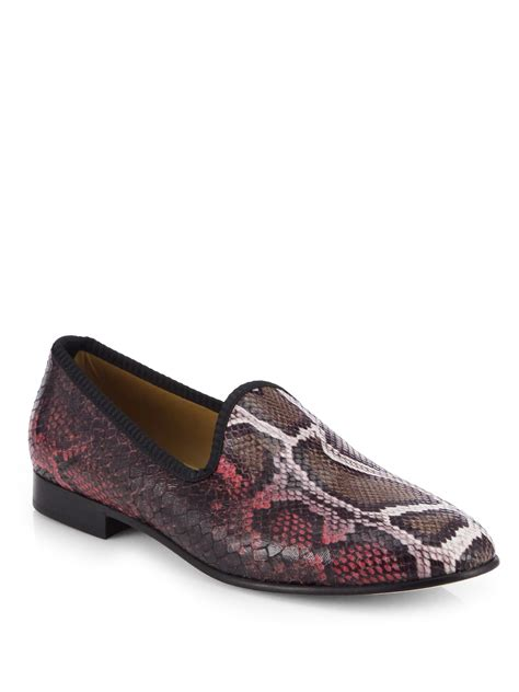 toro slippers mens toro fauxpython prince slippers in for purple