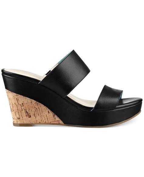 hilfiger wedge sandals hilfiger kadine platform wedge sandals in black lyst