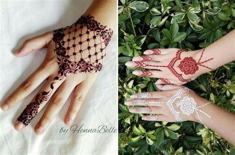 design henna bunga 12 corak lukisan inai bertemakan syawal dari 6 pelukis