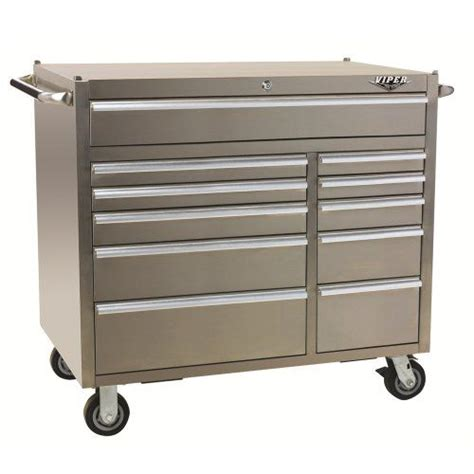 stainless steel rolling cabinet viper tool storage pro 41 inch 11 drawer stainless steel