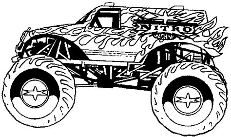 rc truck coloring page kids n fun de 8 ausmalbilder von monster trucks