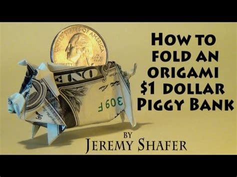 how to fold a new year fish how to fold dollar bill origami pig 紙幣摺紙豬教學