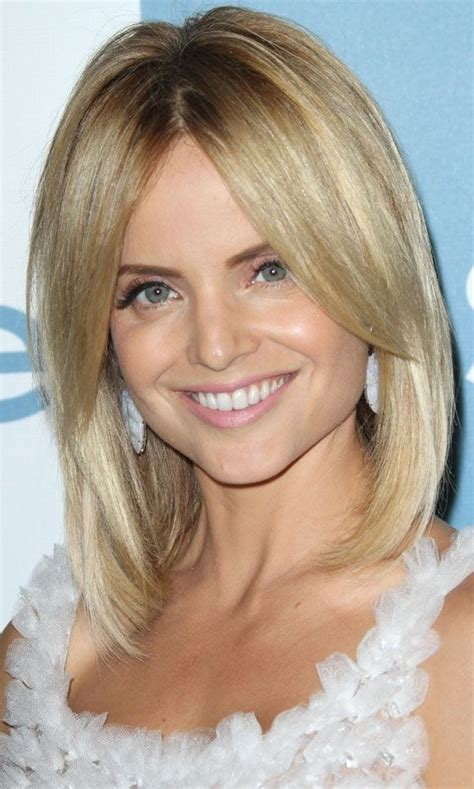 bob hairstyles with part in the middle pictures of lob with middle part and bangs