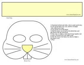 Easter chick face mask colouring pages