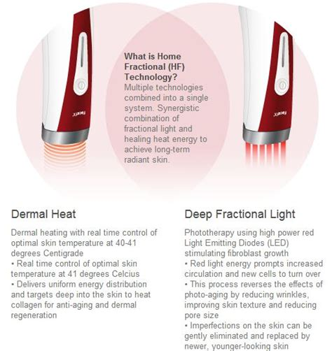 silk n facefx anti aging light based treatment device silk n facefx technology red light heat