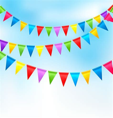 10 Metre Rainbow Bunting Flag Kids Party Decorations   ONE STOP KIDS PARTY SHOP