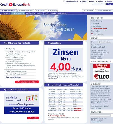 europe credit bank festgeld ist das festgeldkonto der credit europe bank konkurrenzf 228 hig