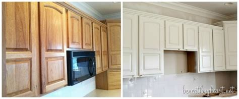 painting kitchen cabinets white beneath