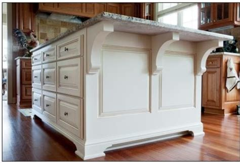 kitchen island with corbels kitchen w white accent island traditional kitchen milwaukee by a fillinger inc