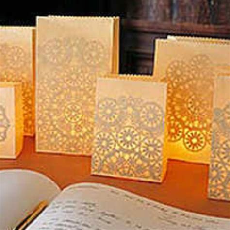 How To Make Paper Luminaries - paper bag luminaries crafts