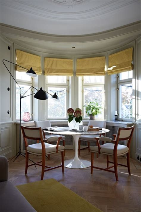 table bay window dining room ideas decorating