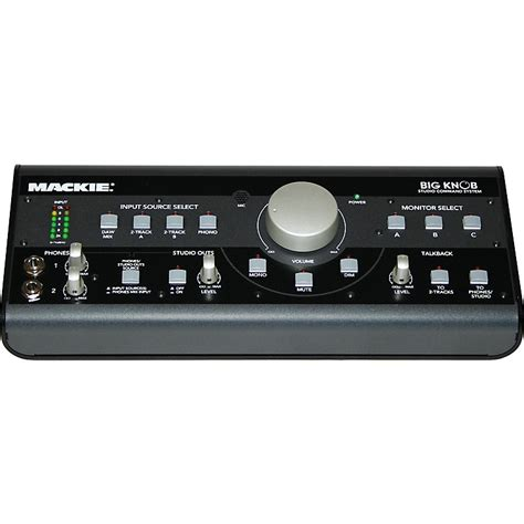 Big Knob Audio mackie big knob studio command system musician s friend