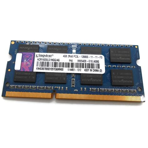 Ram Ddr3 Semarang kingston sodimm 4gb 2rx8 ddr3 pc3l 12800s acr16d3ls1ngg 4g bulk packaging jakartanotebook