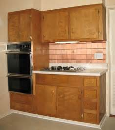 Wooden Kitchen Cabinets by Wood Kitchen Cabinets In The 1950s And 1960s Quot Unitized