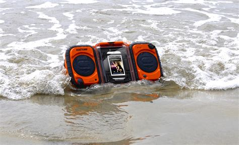 ecoxgear rugged and waterproof stereo boombox ecoxgear rugged and waterproof stereo boombox gdi aq2si60 cell phone carrying