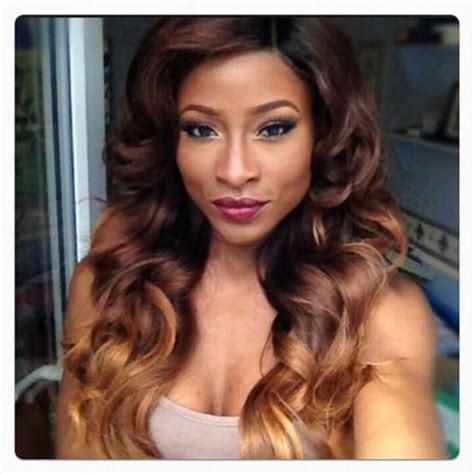 ombre hair color fro african american women dark brown to honey blonde ombre hair thegorgeouslife