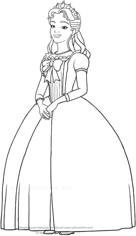 queen miranda coloring page queen miranda sofia the first coloring page