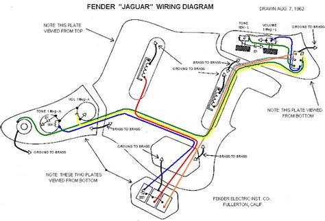 fender jaguar bass wiring diagram wiring diagram and