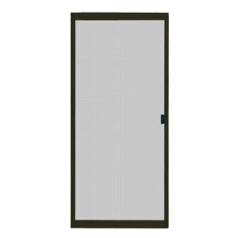 Patio Screen Door Home Depot by Unique Home Designs 30 In X 80 In Standard Bronze Metal