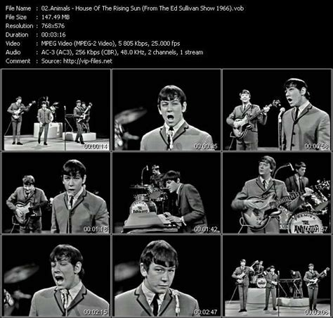 house of the rising sun music video download animals house of the rising sun from the ed sullivan show 1966 hq vob