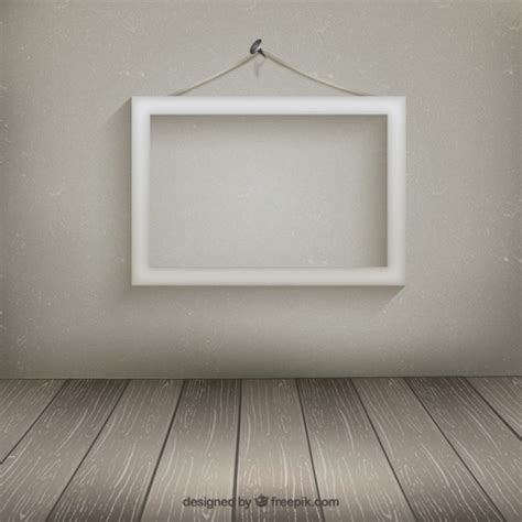hang pictures on wall white frame hanging on the wall vector free download