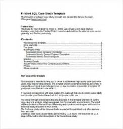 Psychological Study Template by 12 Study Templates Free Sle Exle Format