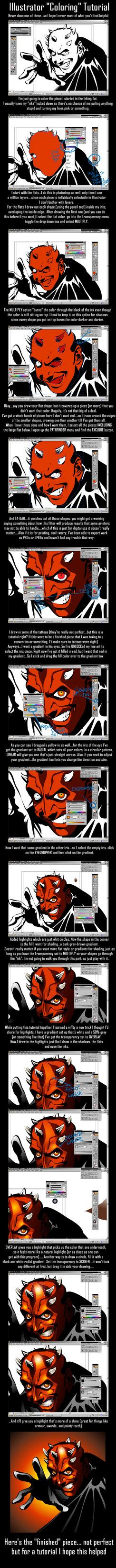 illustrator tutorial deviantart illustrator coloring tutorial by kheelan on deviantart