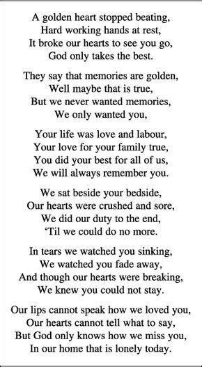 memorial card quotes  funerals poetry funeral quotes funeral poems memories quotes