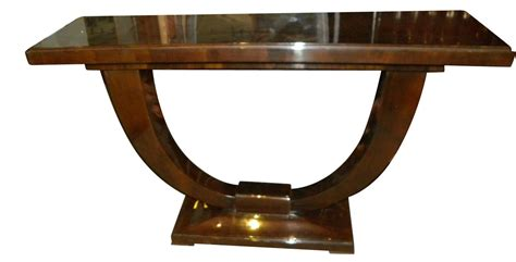 Dining Room Table Sets With Leaf Art Deco Console U Shaped Base In Wood Consoles Art