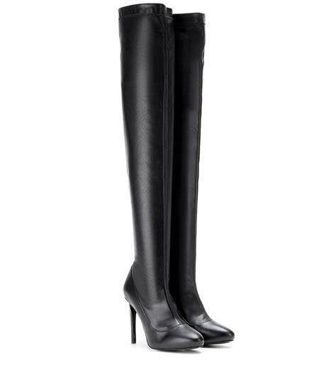 stella mccartney boots stella mccartney the knee boots in black lyst