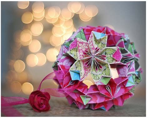 How To Make An Origami Ornament - mareri kusudama chirstmas origami ornaments