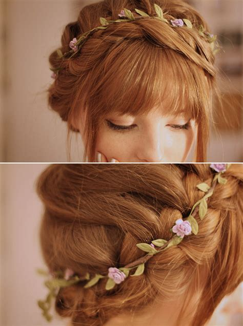 cute hats for women with thinning crown thin simple flower crown you could do a waterfall